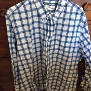 Old Navy. Xxl Blue & White Long Sleeved shirt